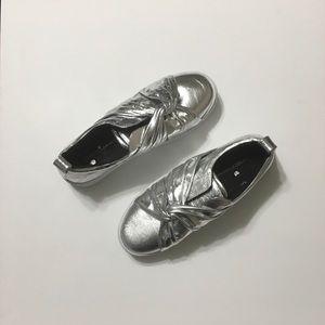 Rebecca Minkoff Nicole Silver Knot Sneakers
